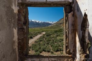 Vista desde el hotel abandonado de El Sosneado