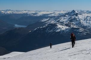Transito sobre el glaciar